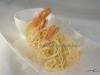 Gamberi in crosta di fili di patate